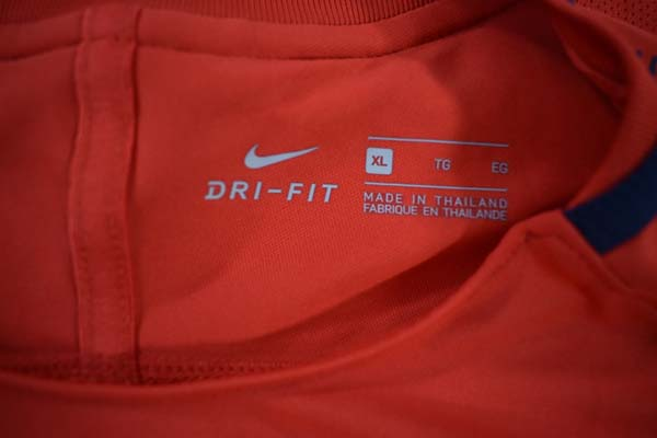 Maillot Entrainement Rouge Taille